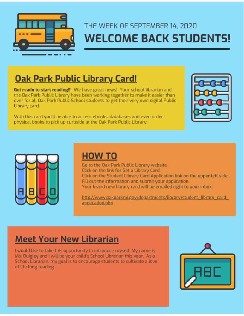 Oak Park Library Information